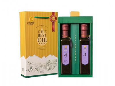 梅山茶油頂級二瓶組禮盒(黑麻油*2,250ml/2瓶/盒)