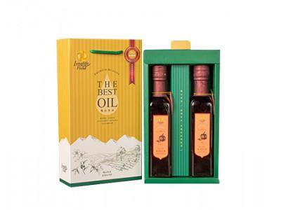 梅山茶油頂級二瓶組禮盒(南瓜籽油*2,250ml/2瓶/盒)